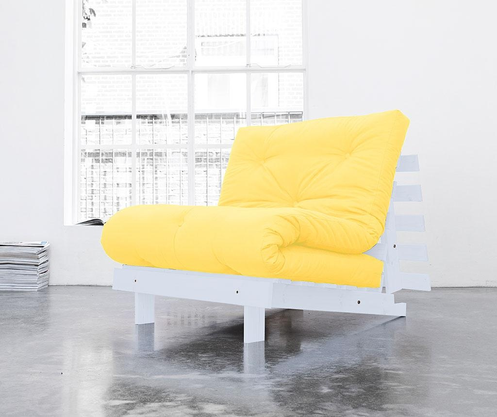 Sofa extensibila Roots White and Amarillo 90x200 cm