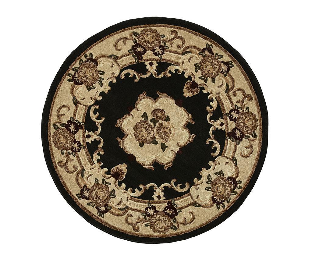 Covor Marrakesh Black Circle 140 cm