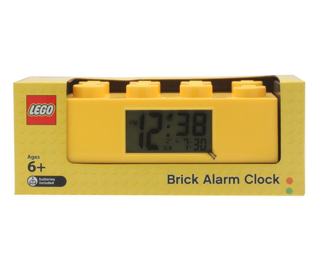 Ceas cu alarma Lego Brick Monden Yellow