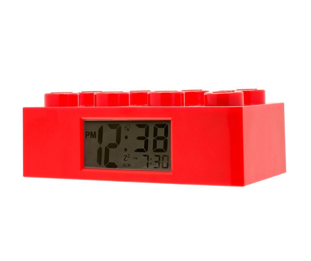 Ceas cu alarma Lego Brick Monden Red