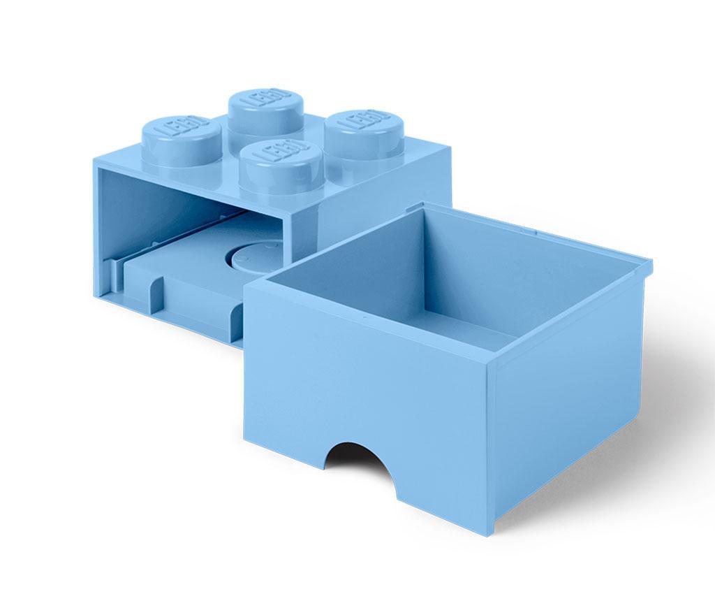 Cutie pentru depozitare Lego Square One Light Blue