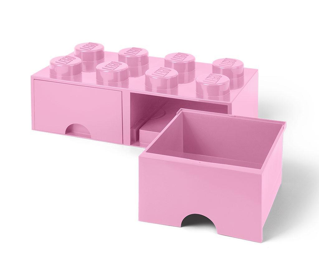 Kutija za spremanje Lego Square Duo Light Pink