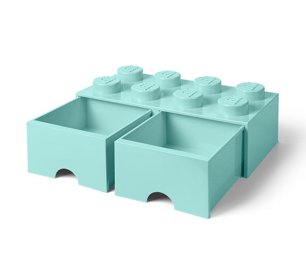 Shranjevalna škatla Lego Square Duo Turquoise