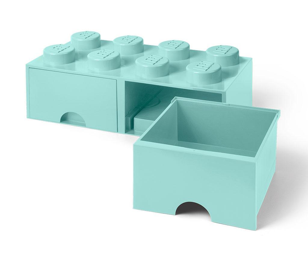 Kutija za spremanje Lego Square Duo Turquoise