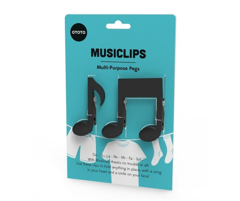 Set 2 štipaljke za rublje Musiclips