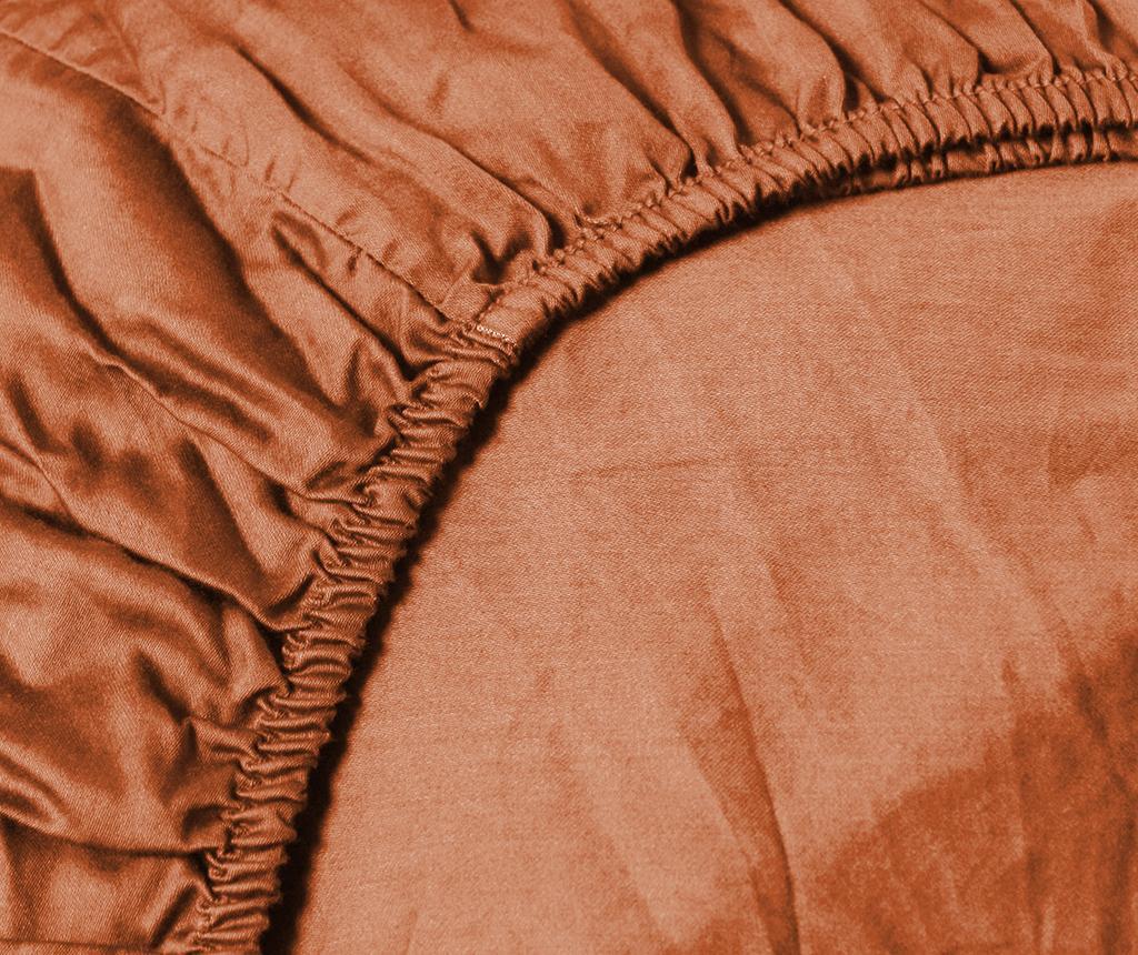 Cearsaf cu elastic Percale Persey Terra 90x200 cm