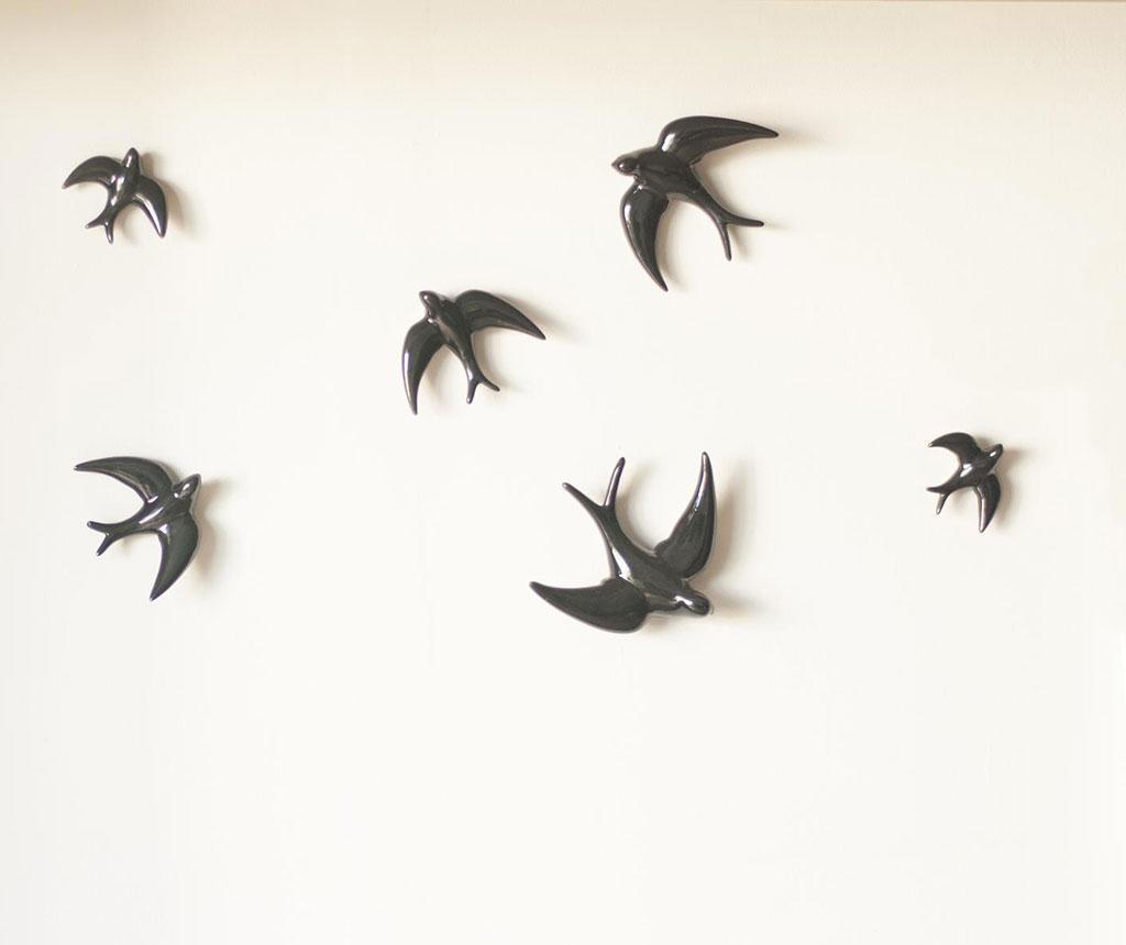 Set 2 decoratiuni de perete Swallows Black