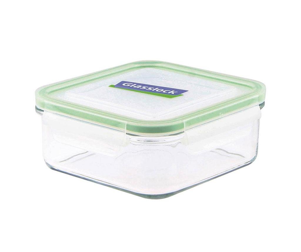 Mísa s hermetickým víkem Compact Classic Square Green 900 ml