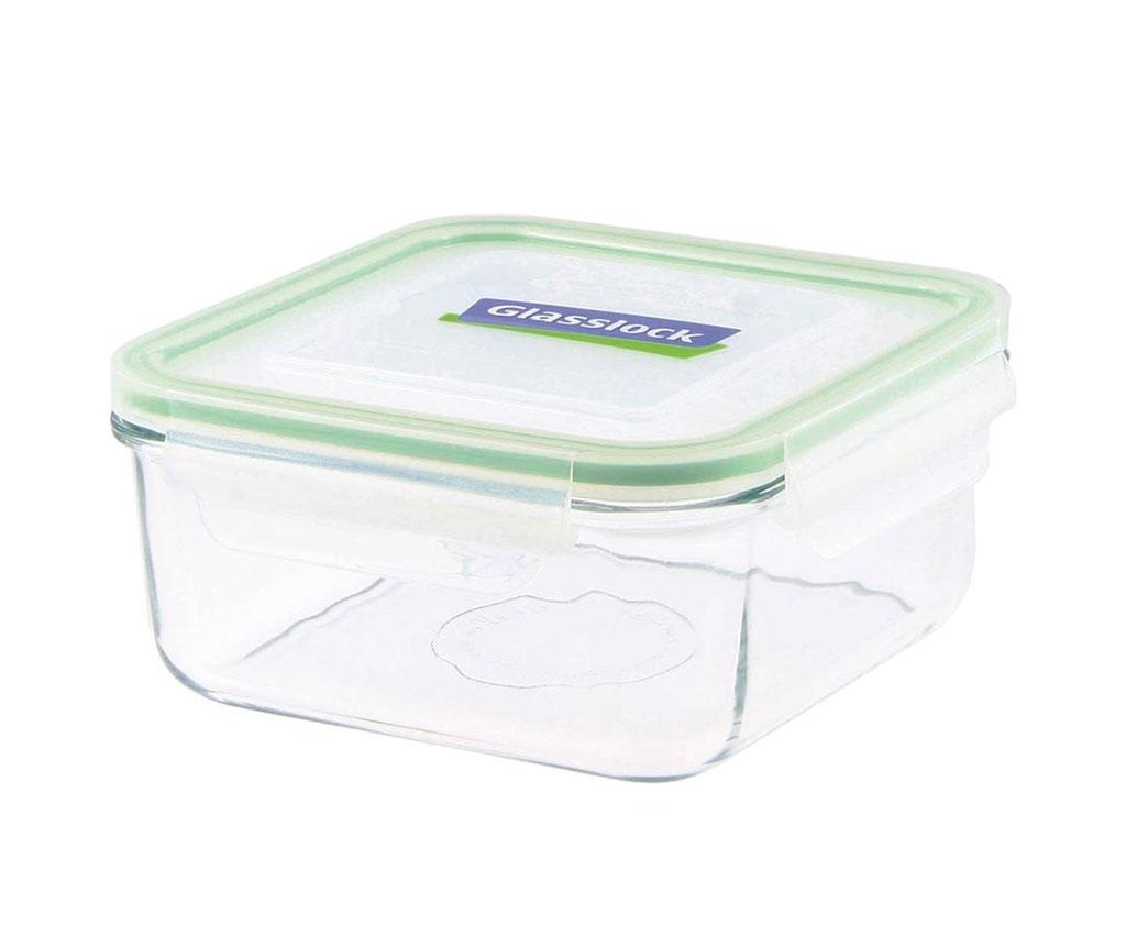 Compact Classic Square Green Mély tál hermetikus fedővel 1.2 L