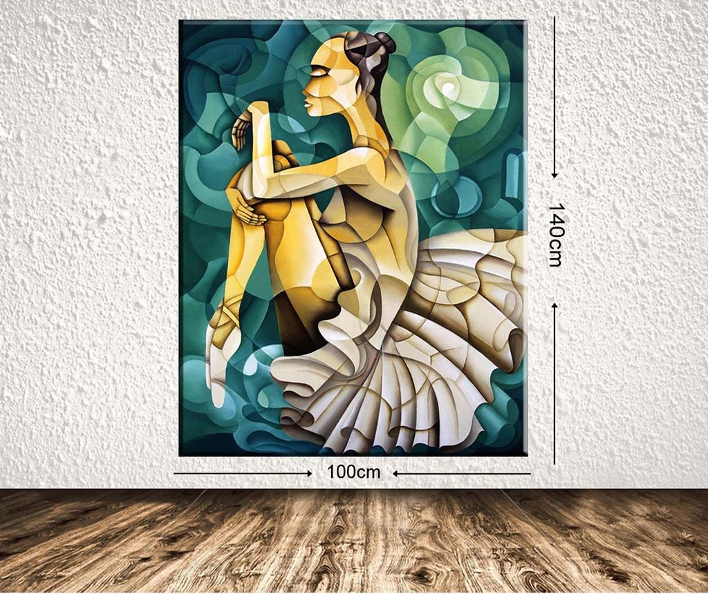 Slika Geometric Ballerina 100x140 cm