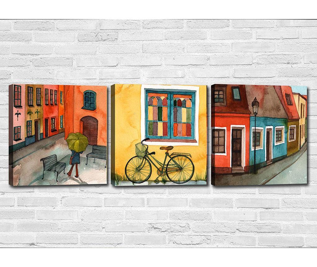 City Vibe 3 db Kép 30x30 cm