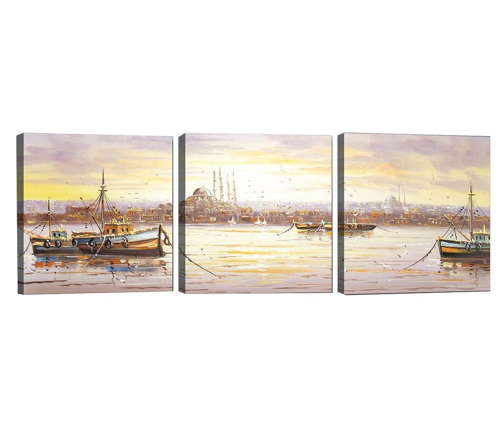 Set 3 tablouri Morning Light 30x30 cm