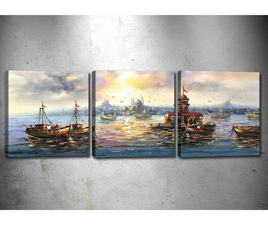 Set 3 tablouri Sunny Vibe 30x30 cm