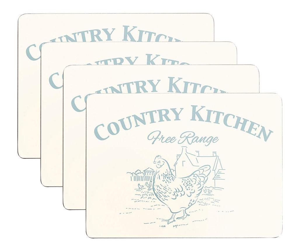 Set 4 suporturi farfurii Country Kitchen 22x29 cm