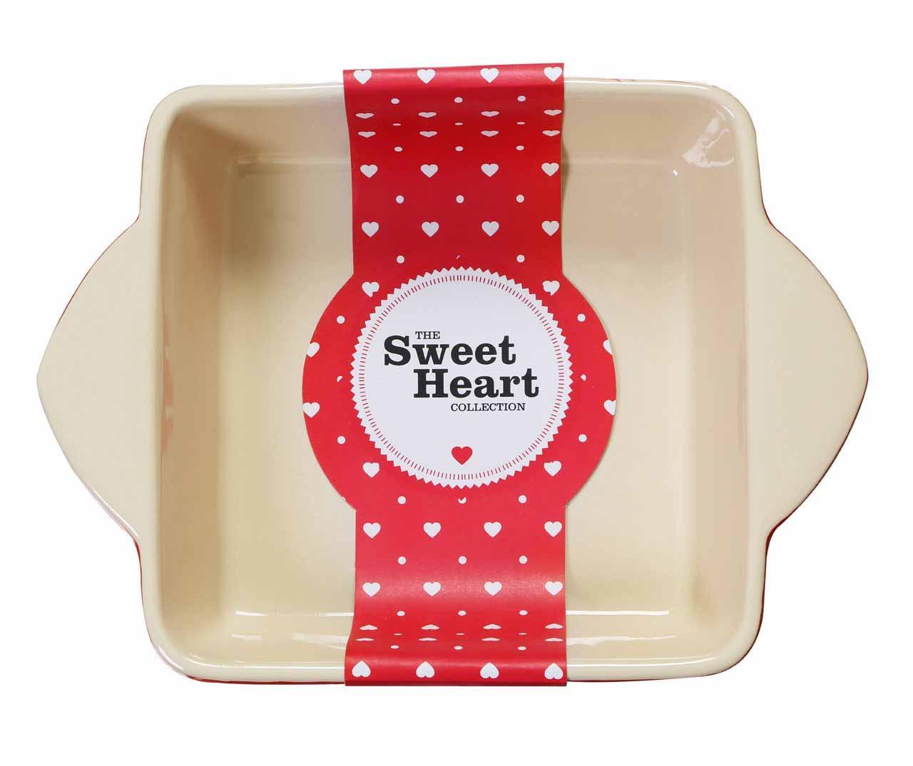 Sweet Heart Square Sütőtál 2 L