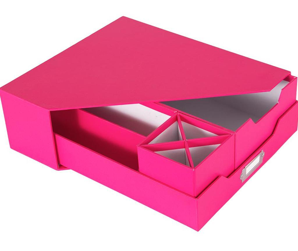Opaco Pink 5  darabos Íróasztal rendszerező
