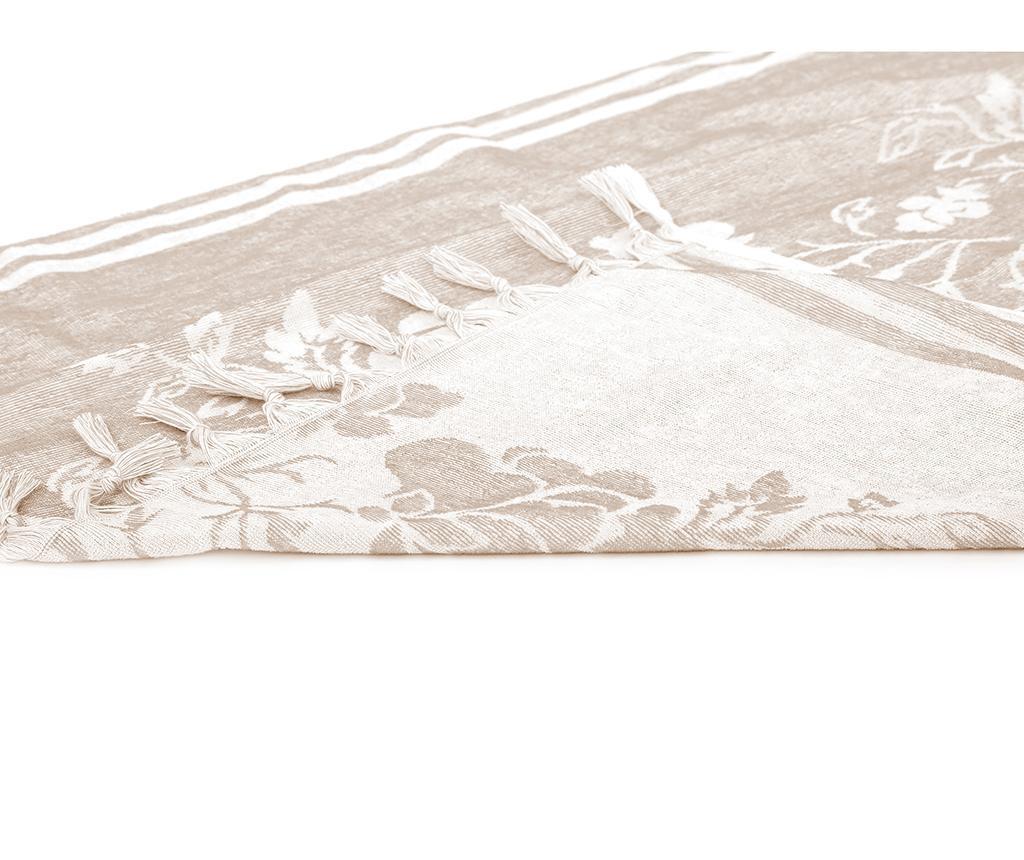 Prosop de baie Pestemal Partenon Beige 80x160 cm