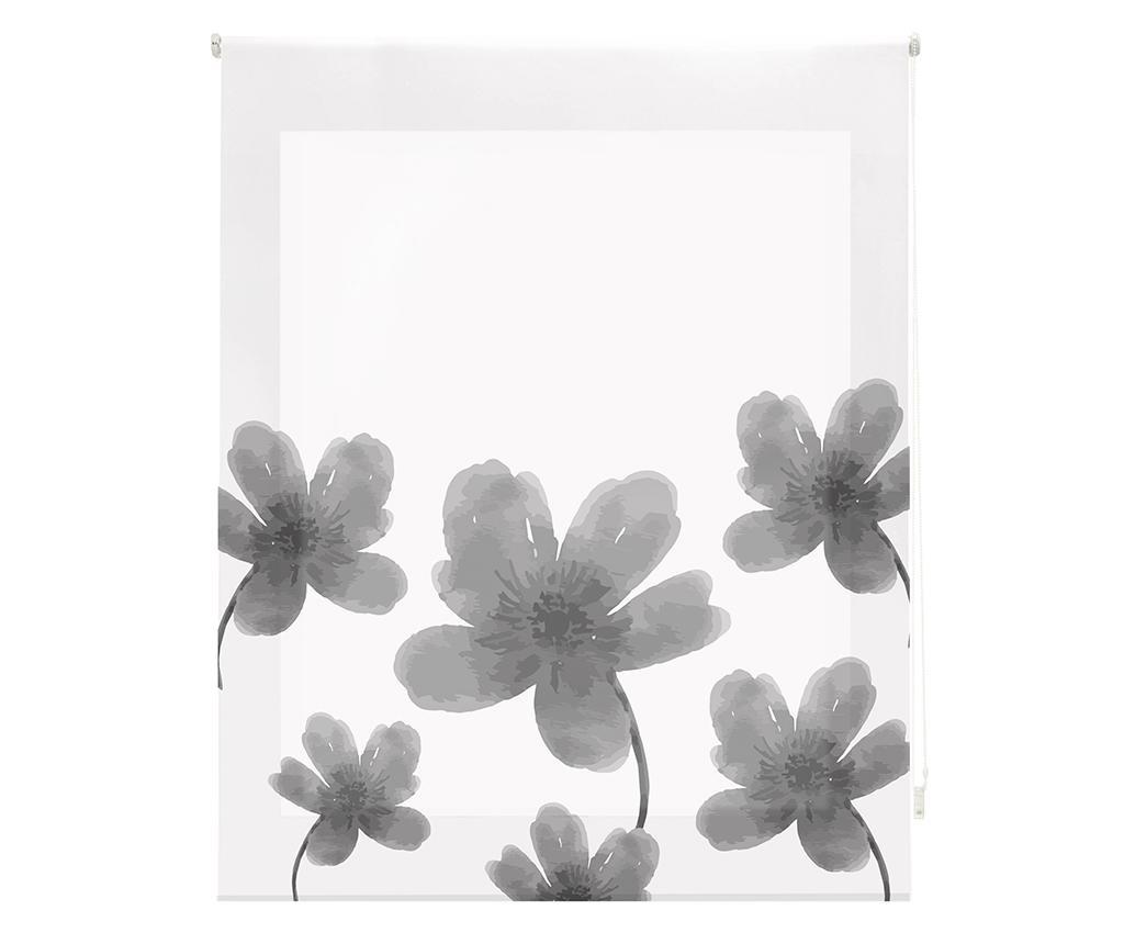 Jaluzea tip rulou Pansies Grey 160x180 cm