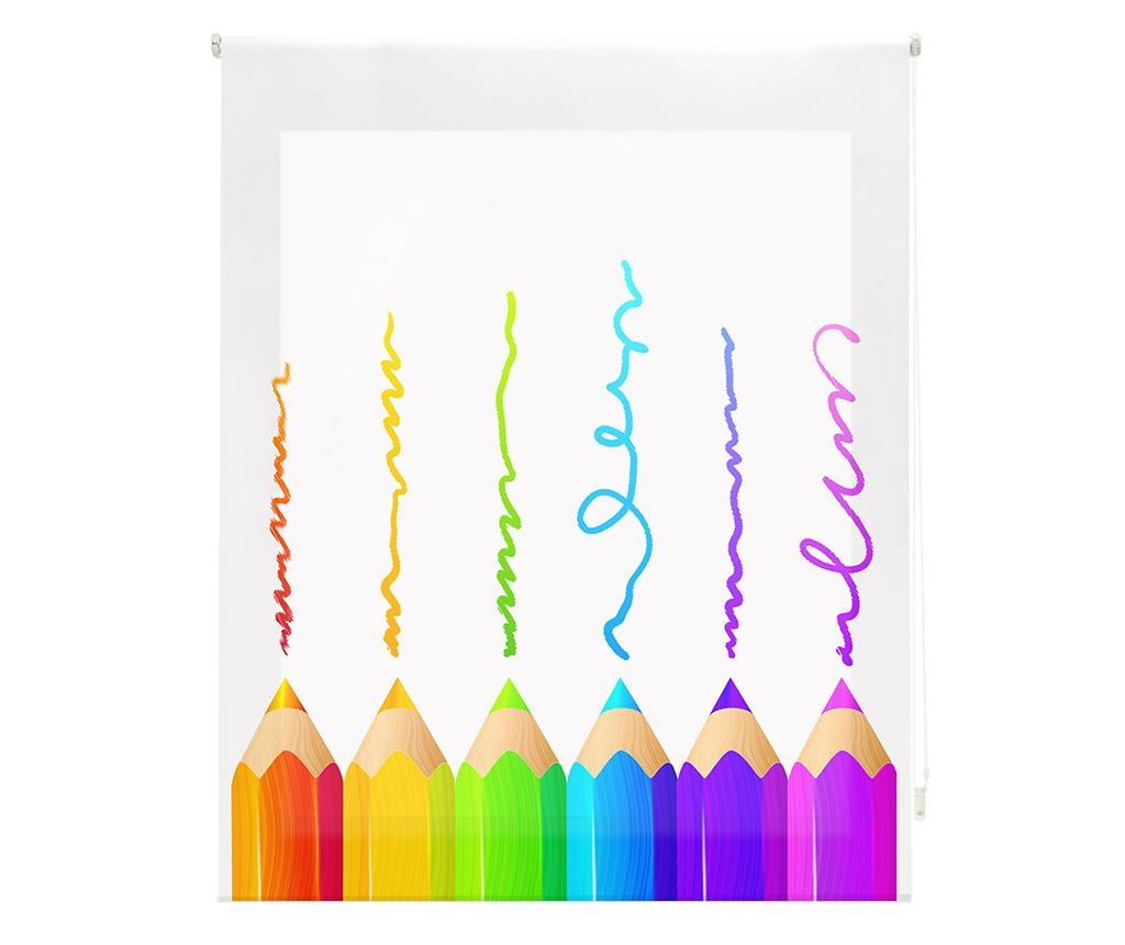 Jaluzea tip rulou Crayons 140x180 cm