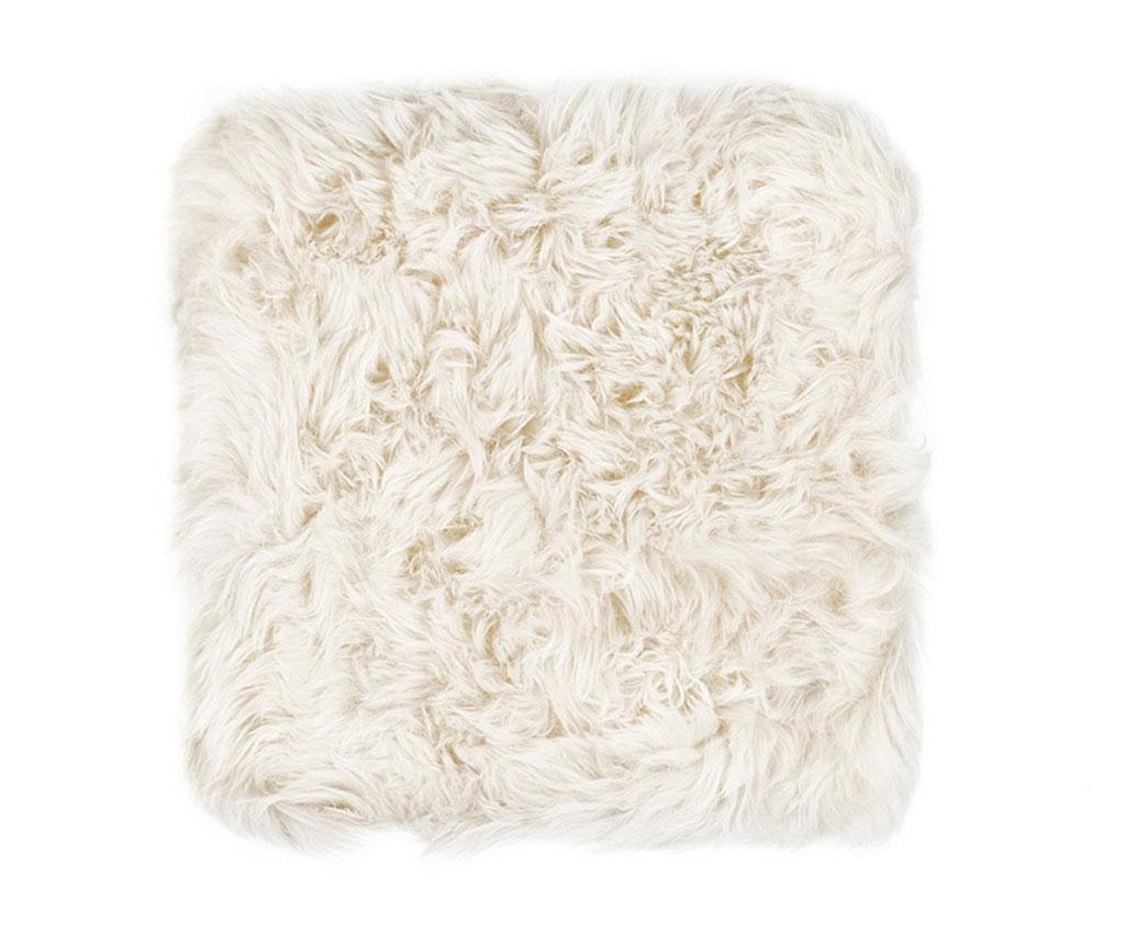 Sedežna blazina Fluffy White 40x40 cm