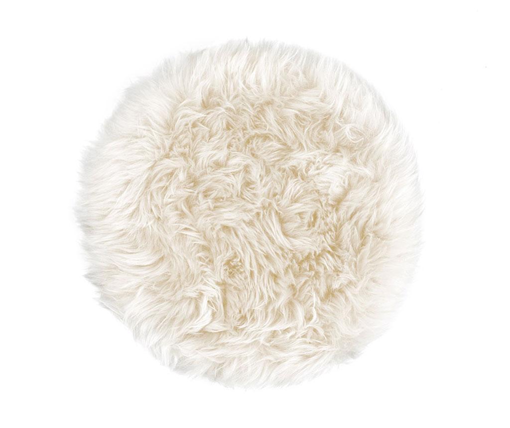 Fluffy Round White Ülőpárna 35 cm