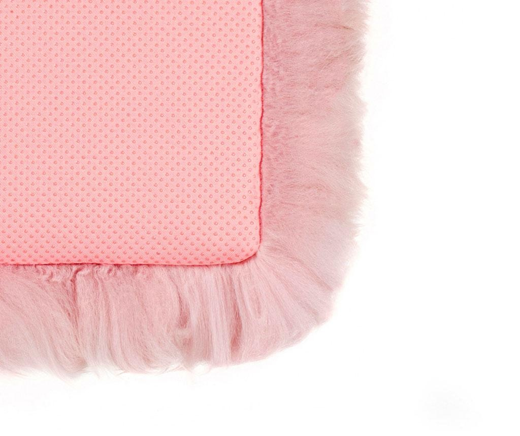 Fluffy Round Pink Ülőpárna 35 cm