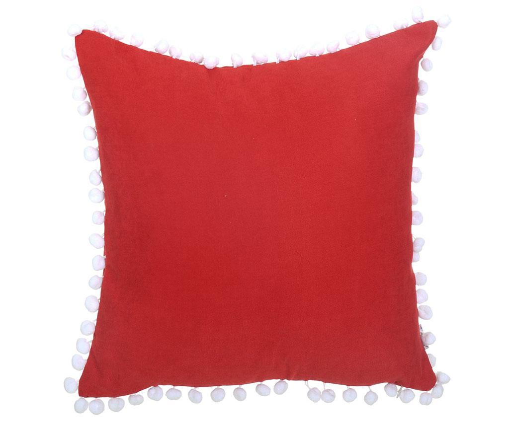 Fata de perna Pom Pom Plain Red 43x43 cm