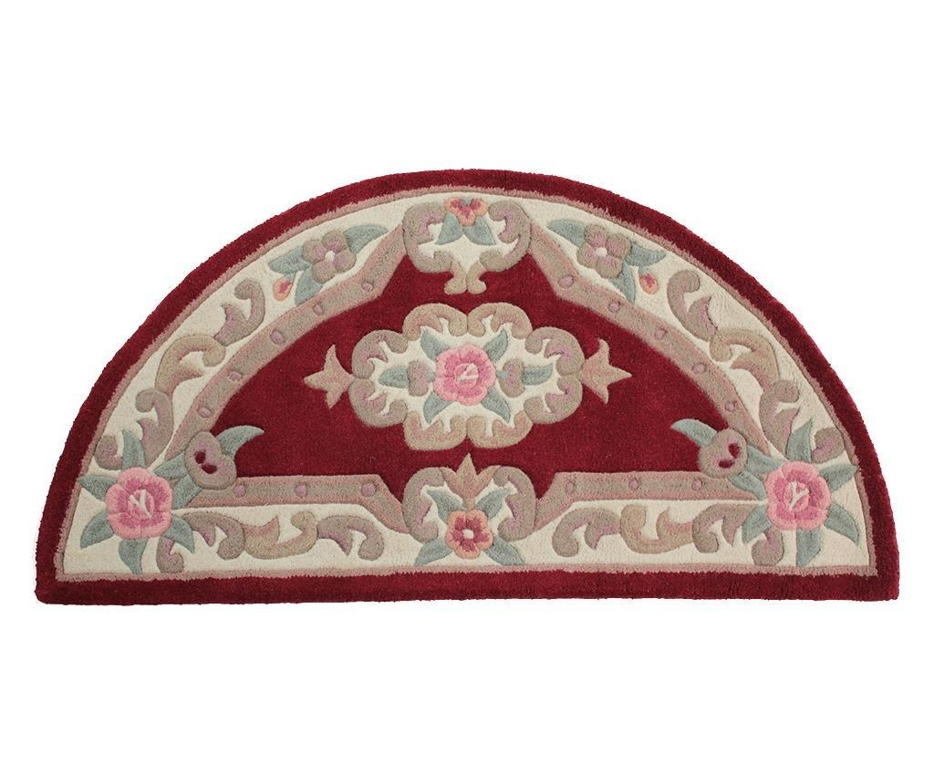 Covor Aubusson Semicircle Red 67x127 cm