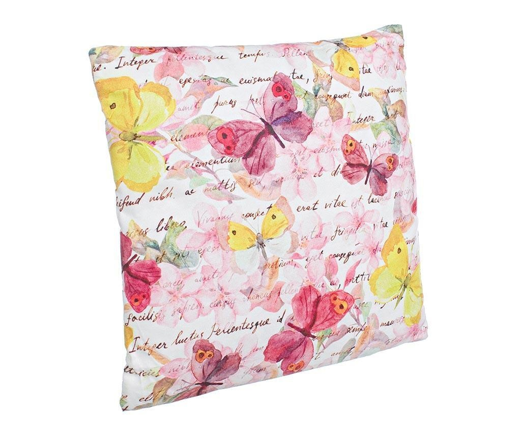Perna decorativa Pink Butterfly 40x40 cm