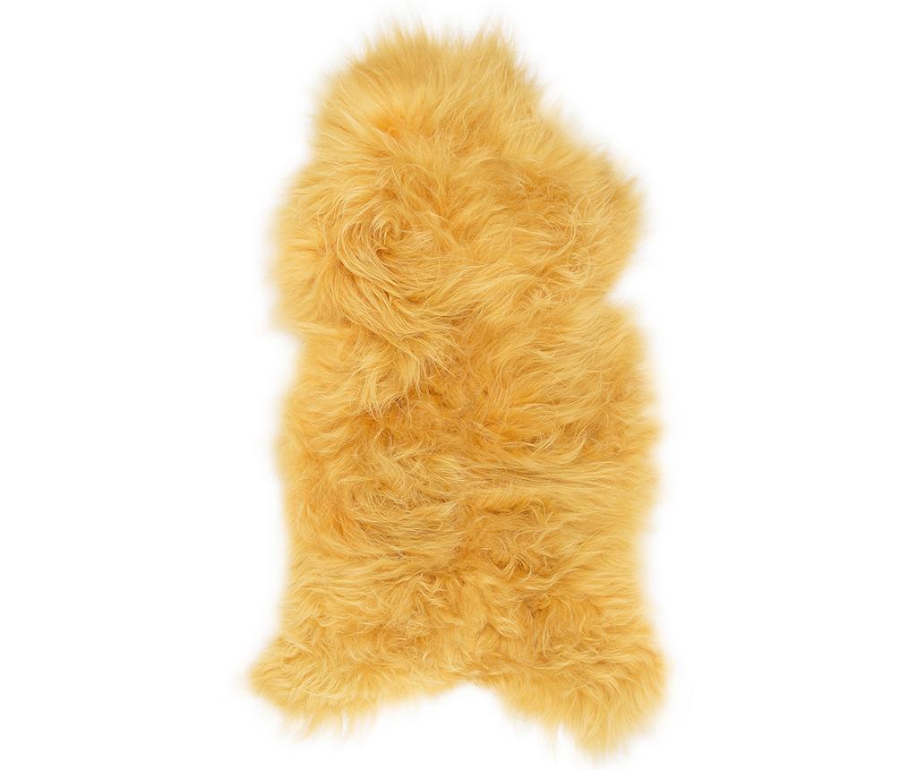 Icelandic Long Golden Yellow Báránybőr 50x90 cm