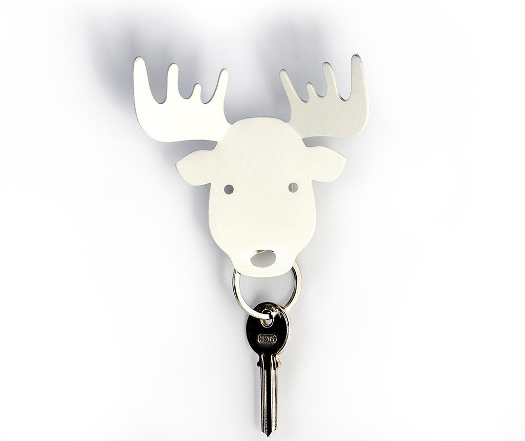 Magnetický držiak na kľúče Mooose White