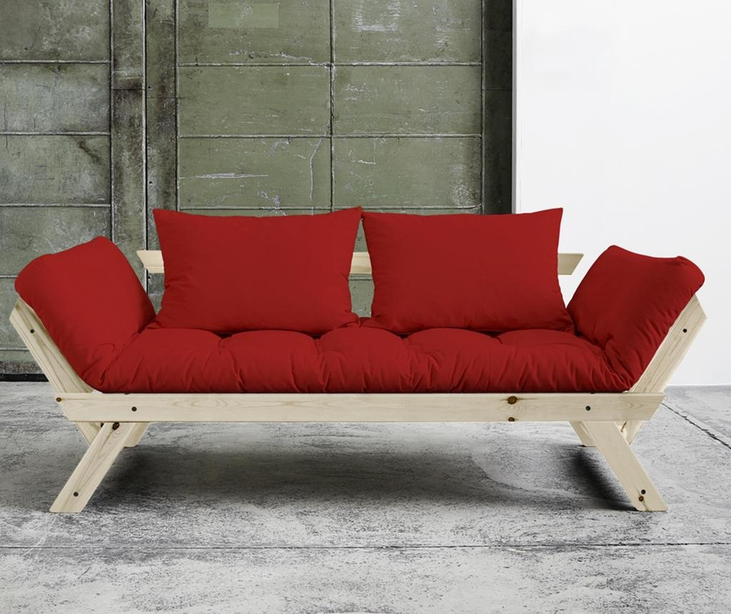 Sofa extensibila Bebop Natural and Red