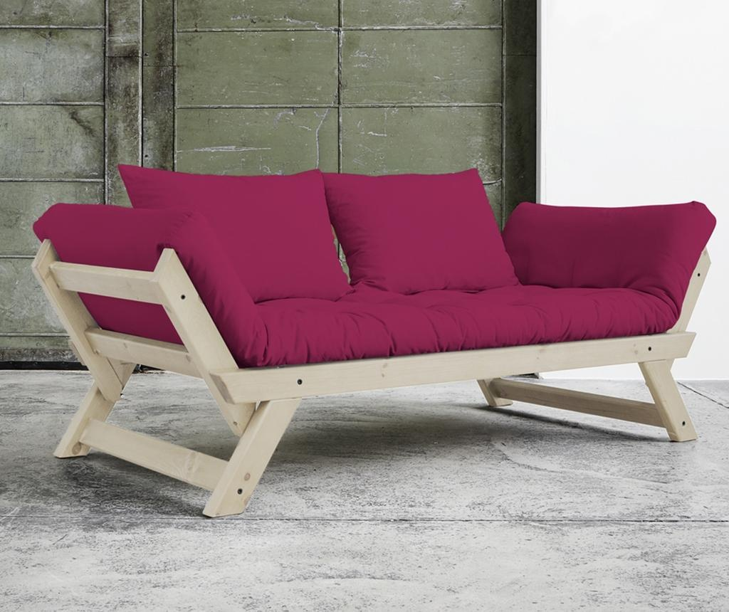 Sofa extensibila Bebop Natural and Pink