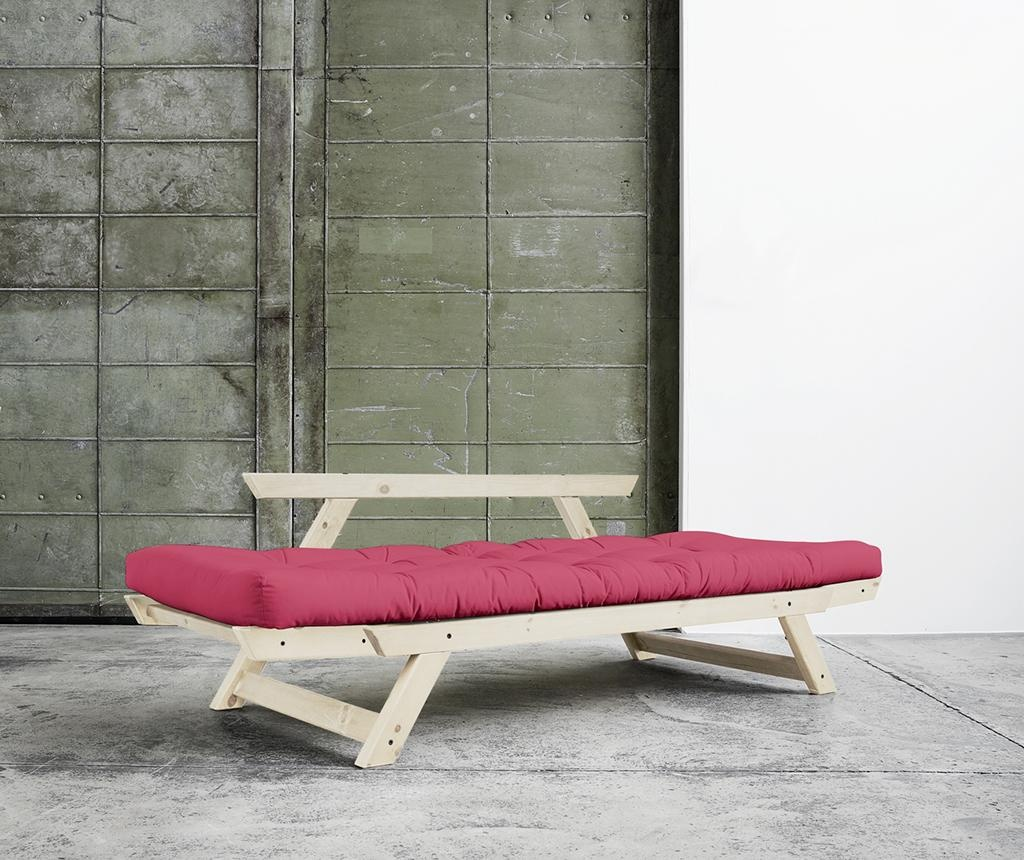 Sofa extensibila Bebop Natural and Fuchsia