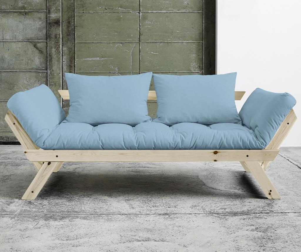Sofa extensibila Bebop Natural and Soft Blue