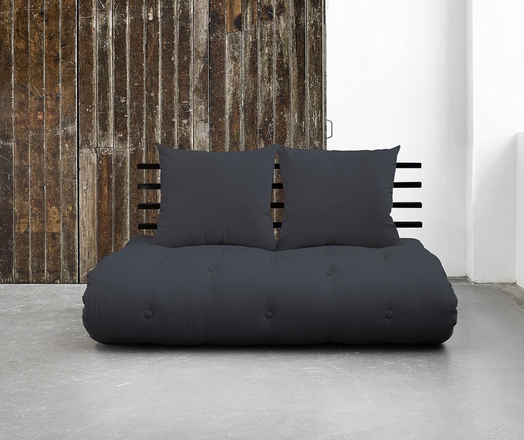 Sofa extensibila Shinsano Black and Dark Grey