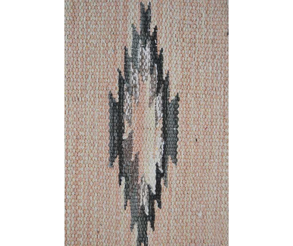 Covor tip pres Durrie Kansas Grey 60x120 cm