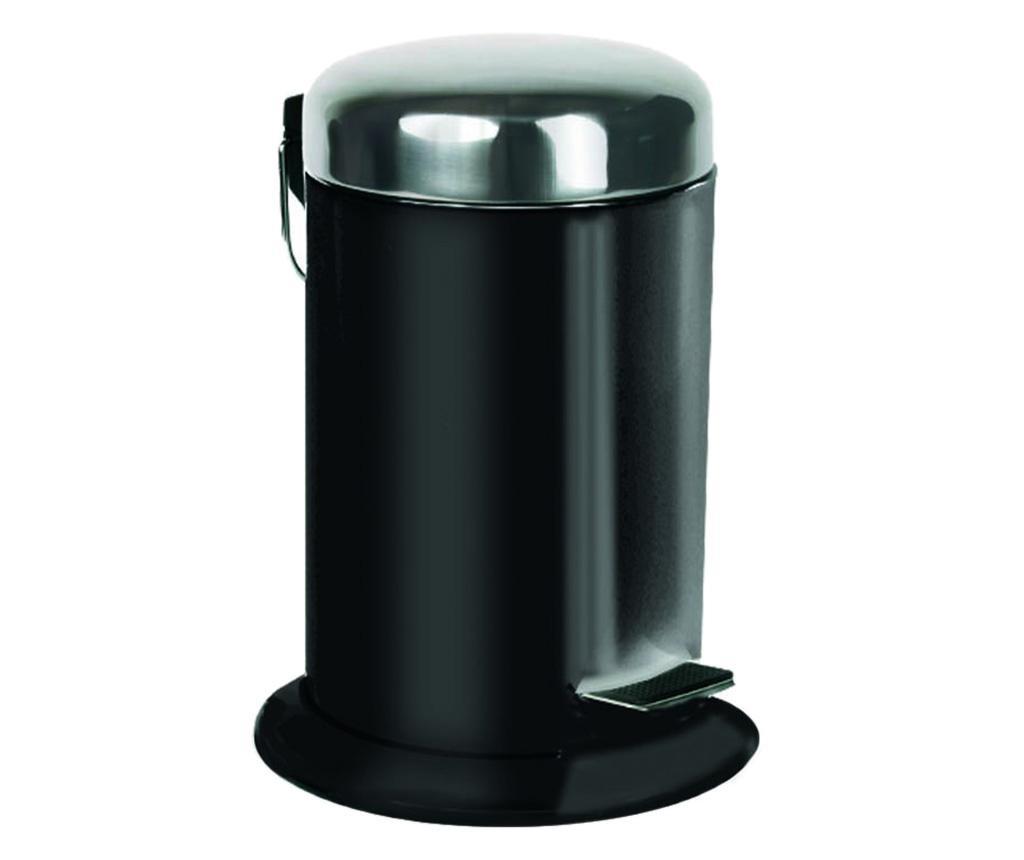 Cos de gunoi cu capac si pedala Padox Black 5 L