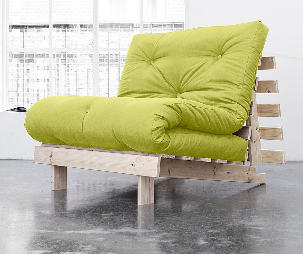 Sofa extensibila Roots Natural and Pistacio 90x200 cm