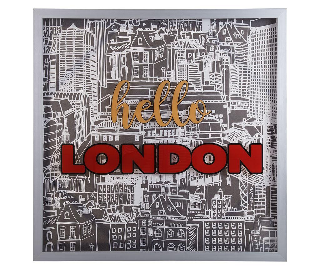 Slika Hello London 80x80 cm
