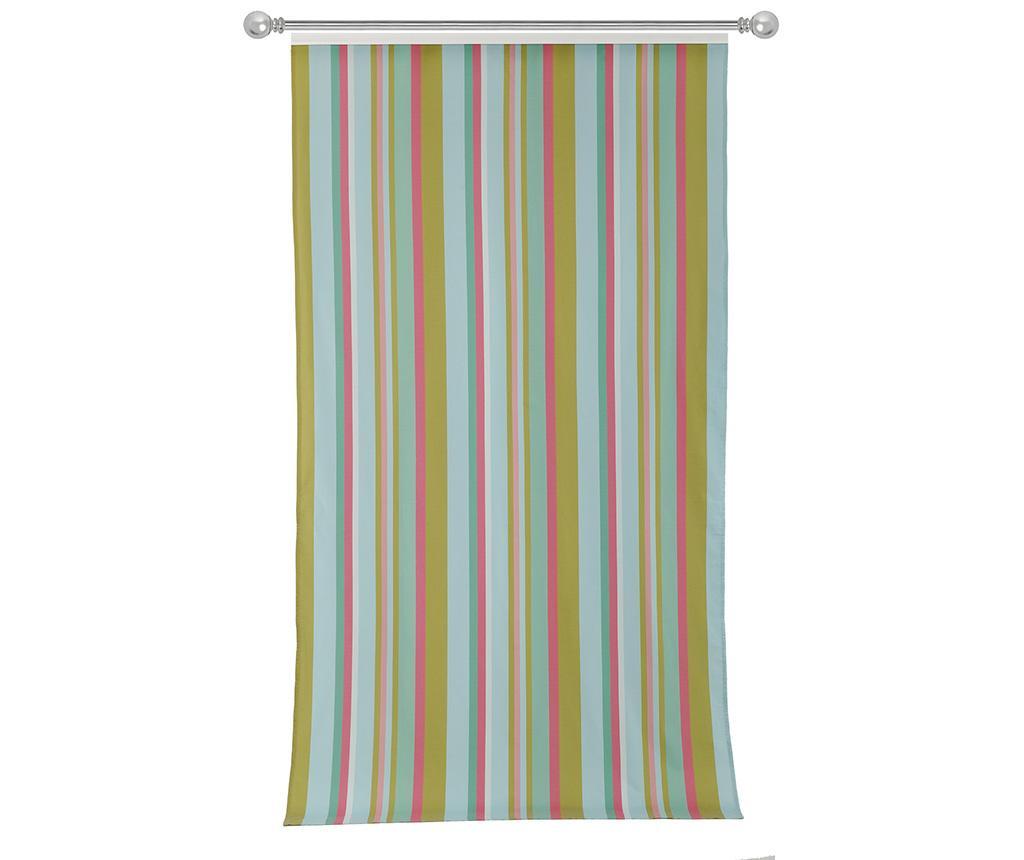Závěs Stripes Light Blue Pink 140x270 cm