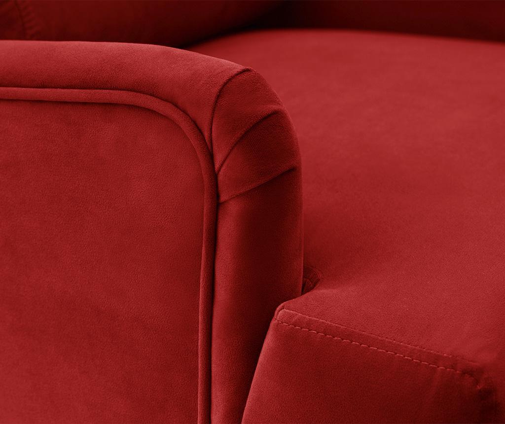 Canapea 3 locuri Flanelle Glamour Red