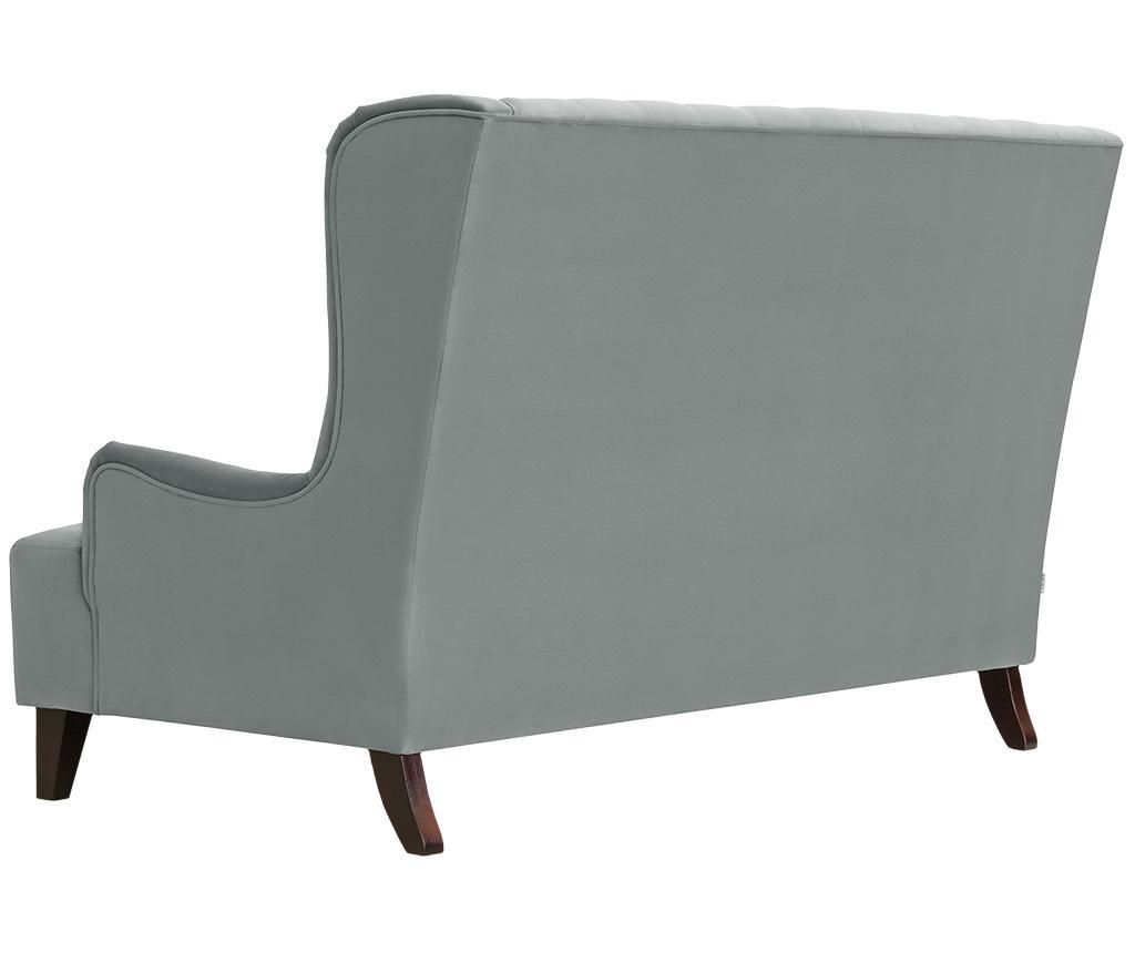Canapea 2 locuri Flanelle Light Grey