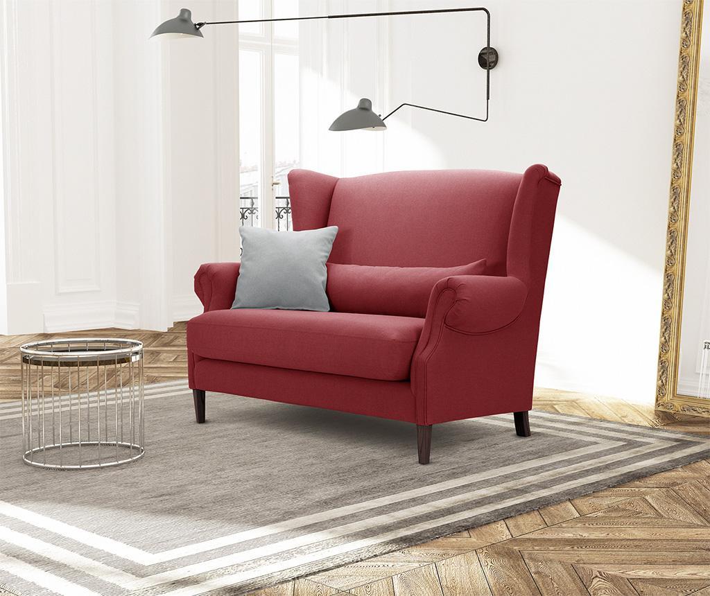 Canapea 2 locuri Alpaga Glamour Red