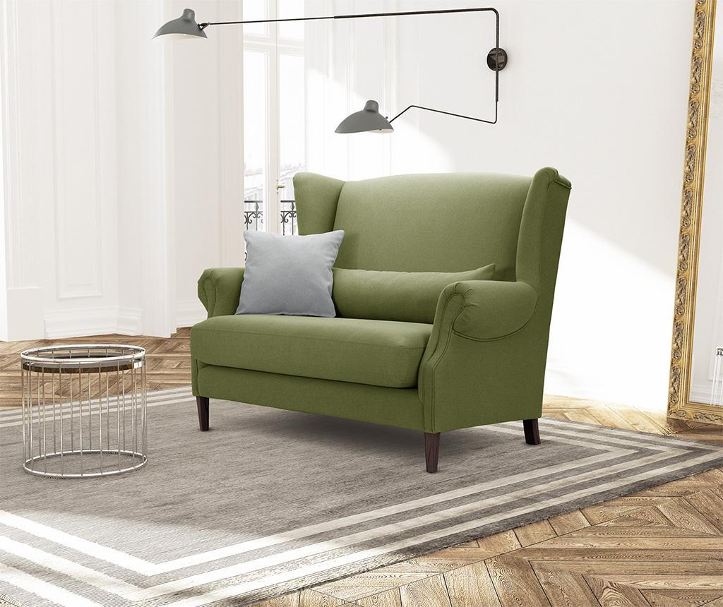 Canapea 2 locuri Alpaga Dark Green