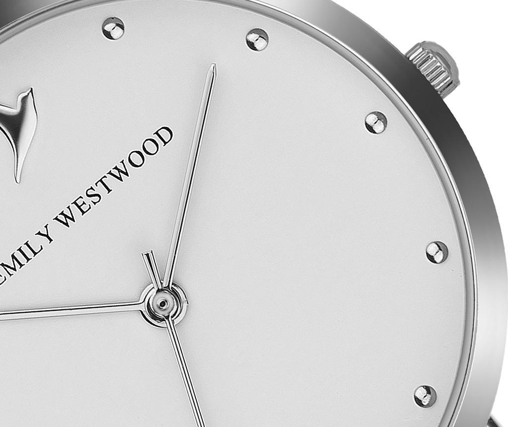 Ceas de mana dama Emily Westwood Clear Glam Silver