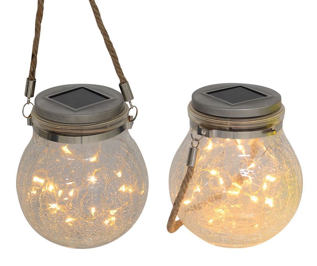 Henley Creme 2 db Napelemes lámpás LED-el