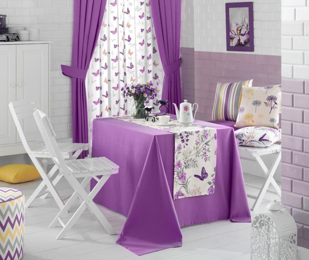 Namizni tekač Bloom Purple 40x170 cm