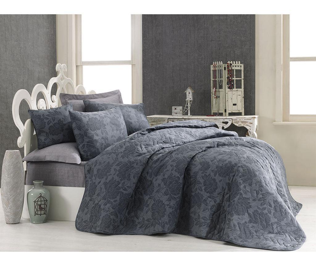 Jamie Anthracite Kétszemélyes steppelt ágytakaró garnitúra
