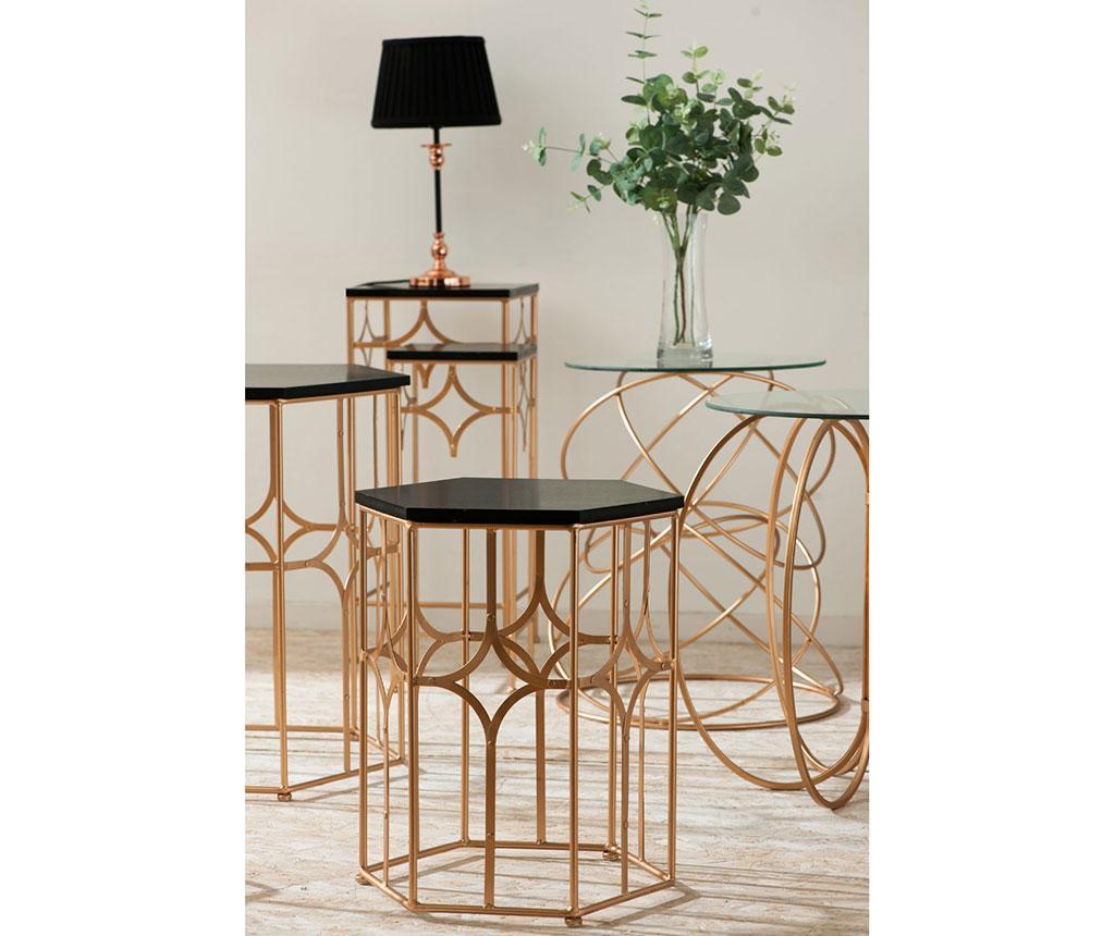 Lexa Circles Rose Gold Asztalka